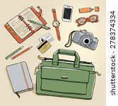vector scetch illustration with ... | Shutterstock .eps vector #278374334