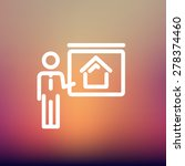 real estate training icon thin... | Shutterstock .eps vector #278374460