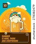 summer poster with mug of beer. ... | Shutterstock .eps vector #278382479