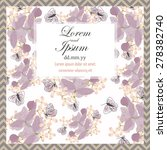 invitation card with floral... | Shutterstock .eps vector #278382740