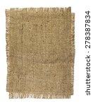 natural burlap texture on a... | Shutterstock . vector #278387834