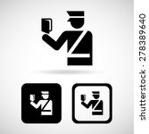 police icons set great for any...   Shutterstock .eps vector #278389640