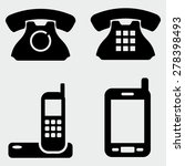 phone icons | Shutterstock .eps vector #278398493
