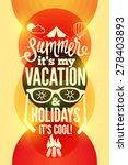summer time retro poster.... | Shutterstock .eps vector #278403893