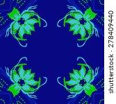 circular  seamless pattern of... | Shutterstock .eps vector #278409440