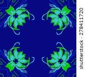 circular  seamless pattern of... | Shutterstock . vector #278411720