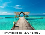 Jetty On The Maldives