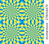 rotation  motion illusion .... | Shutterstock .eps vector #278416670