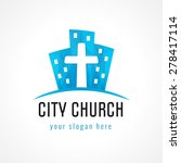 city church vector logo.... | Shutterstock .eps vector #278417114