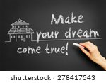 "hand writes ""make your dream... 