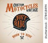 vintage custom motocycles... | Shutterstock .eps vector #278418494