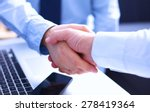business people shaking hands ... | Shutterstock . vector #278419364