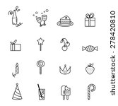 party line icons set... | Shutterstock .eps vector #278420810