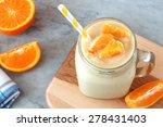 Orange Fruit Smoothie In A...