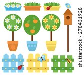 vector set of garden items. | Shutterstock .eps vector #278431928