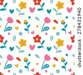 vector seamless pattern with... | Shutterstock .eps vector #278431940