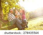 grandparents with grandson... | Shutterstock . vector #278435564