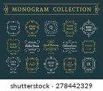 vintage monogram set. vector... | Shutterstock .eps vector #278442329