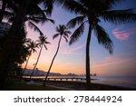 beautiful sunset views... | Shutterstock . vector #278444924