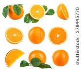 orange fruit isolated on a... | Shutterstock . vector #278445770