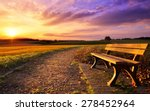 colorful sunset scenery in... | Shutterstock . vector #278452964