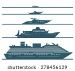 flat icons of boats ranked by... | Shutterstock .eps vector #278456129