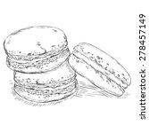 vector sketch macaroons.  | Shutterstock .eps vector #278457149