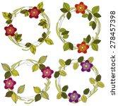 floral leaf wreath vector... | Shutterstock .eps vector #278457398