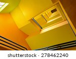 Spiral Stairs In Yellow Building