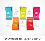 diagram template of color... | Shutterstock .eps vector #278464040