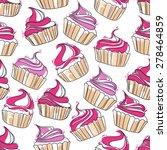 vector hand drawn cupcake...   Shutterstock .eps vector #278464859