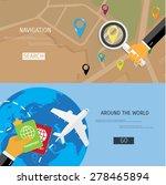 vector flat concept of world... | Shutterstock .eps vector #278465894
