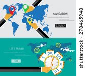 vector flat concept of world...
