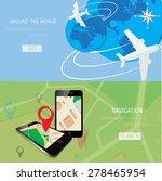 vector flat concept of world... | Shutterstock .eps vector #278465954