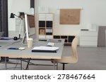 worktable with desktop computer ... | Shutterstock . vector #278467664