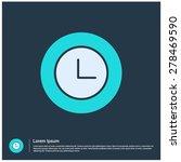 clock watch icon  vector...