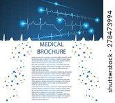 abstract medical cardiology ekg ... | Shutterstock .eps vector #278473994