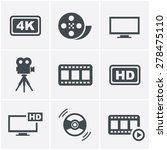 movie icons set | Shutterstock .eps vector #278475110