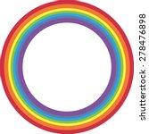 Rainbow Circle On White...
