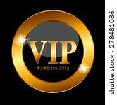 vip members label vector... | Shutterstock .eps vector #278481086