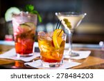 colorful cocktails on the bar... | Shutterstock . vector #278484203