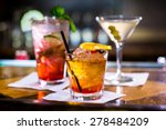 colorful cocktails on the bar... | Shutterstock . vector #278484209