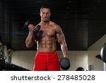 muscular mature man doing heavy ... | Shutterstock . vector #278485028