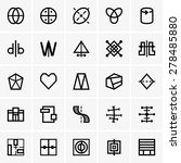 symmetry icons | Shutterstock .eps vector #278485880
