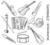 musical instrument | Shutterstock .eps vector #278486093