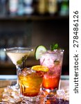 colorful cocktails on the bar... | Shutterstock . vector #278486126