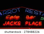 neon shining signboard at night | Shutterstock . vector #278488226