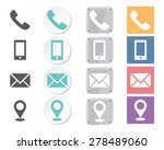 set of contacts icons | Shutterstock .eps vector #278489060