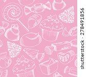 cute candy seamless pattern ... | Shutterstock . vector #278491856