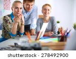 young business people working... | Shutterstock . vector #278492900